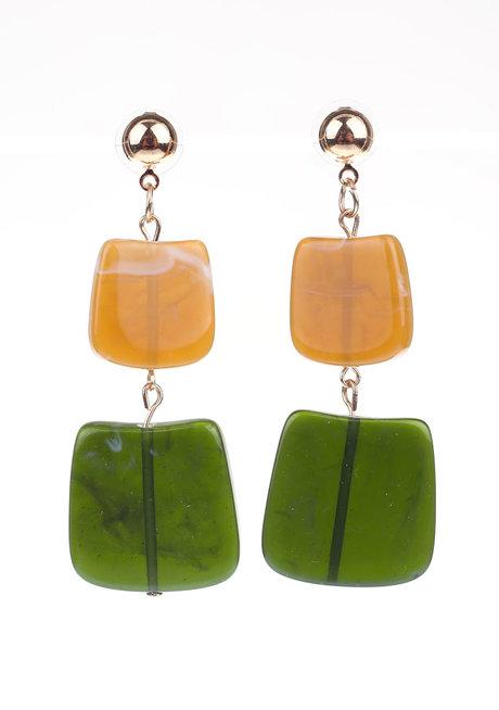 JULIA (Rectangular Acrylic Drop Earrings) by Kera & Co