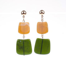 JULIA (Rectangular Acrylic Drop Earrings) by Kera & Co