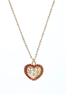 Helena Heart Necklace by Dusty Cloud in Gold