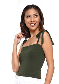 Jill Self-Tie Sleeveless Top by Morning Clothing