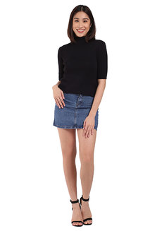 Ribbed High Neck Top by Mantou Clothing