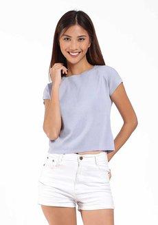 Shanyan Short Sleeve  by Mantou Clothing in Baby Blue in Free Size