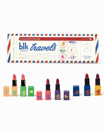 Collector's Edition All-Day Intense Matte Lipstick Set of 6 Mail Box by BLK Cosmetics