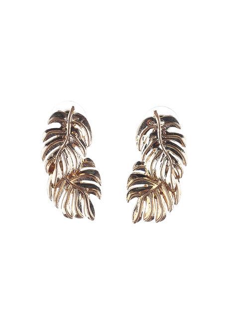 Krista (Tropical Leaf Drop Earrings) by Kera & Co