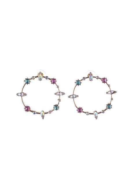 Kayla (Rhinestone Circular Earrings) by Kera & Co
