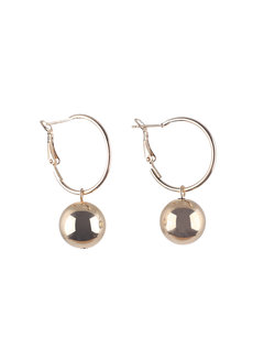 LANA (Gold Ball Drop Earrings) by Kera & Co in Gold