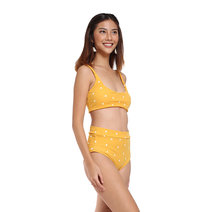 Strappy Polka Dot High Waist Bikini Set by Chic Beauthic
