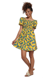 Emilia Dress by Estela in Printed Yellow in S