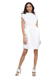 Nevada High Neck Pocket Shift Dress by Quite Frankie