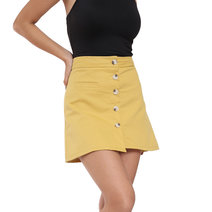 Ashley Button Down Skirt by Flair & Stare
