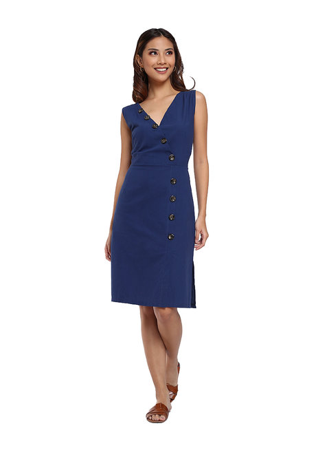 Maxene Side Button Slit Dress by Flair & Stare