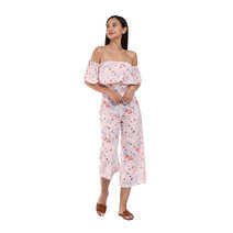 Bianca Floral Off-Shoulder Jumpsuit by Flair & Stare