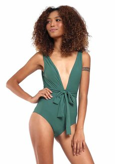 Venice Deep Neck One Piece by Solanna Swimwear