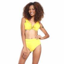 Scarlet Ruffle Strap Bikini by Suns of Beaches