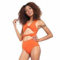Aimee Double Front Knot One Piece by Suns of Beaches
