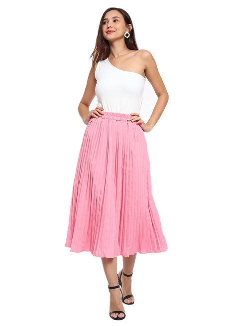 Pamela Pleated Skirt  by Pink Lemon Wear