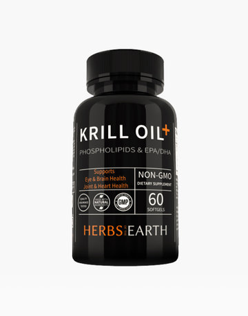 Krill Oil 500mg (60 Softgels) by Herbs of the Earth