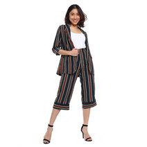 Striped Blazer Set by Pink Lemon Wear