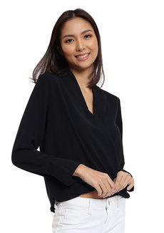 Janice Overlap Long Sleeves Top  by Pink Lemon Wear
