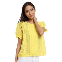 Elaine Eyelet Top  by Pink Lemon Wear