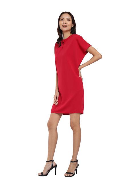 Split Neck Dress by Vida Manila