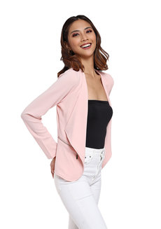 Open Zip Blazer by Vida Manila