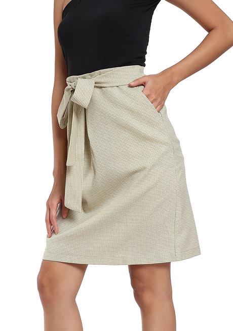 Pleated Sash A Line Skirt by Vida Manila