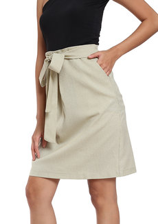 Pleated Sash A Line Skirt by Vida Manila
