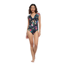 Black Solana One Piece Suit by Coral Swimwear