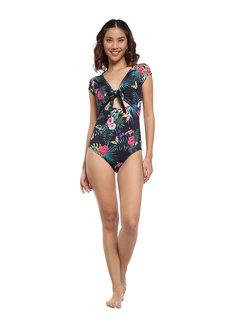 Black Solana One Piece Suit by Coral Swimwear