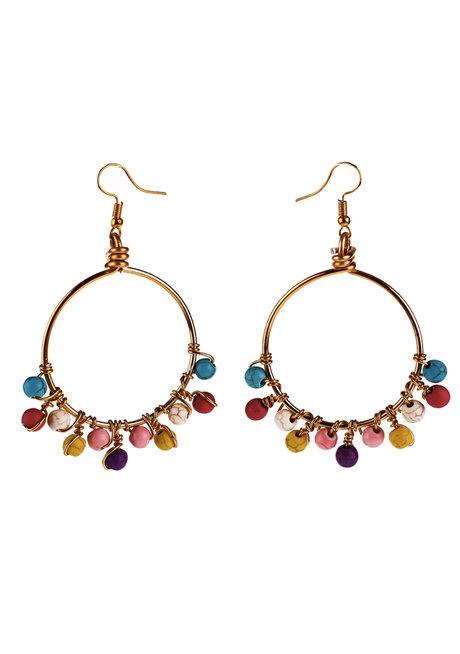 Rainbow Loop Earrings by Bedazzled