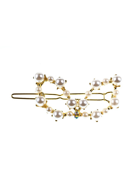 Bunny Gold Pearl Clip by Adorn by MV