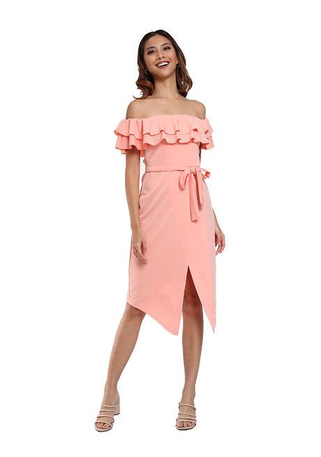 Off Shoulder Dress by Pink Lemon Wear