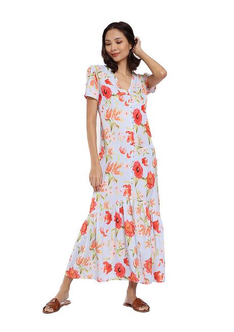 Summer Floral Dress by Pink Lemon Wear