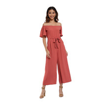 Off Shoulder Jumpsuit by Pink Lemon Wear