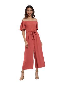 Off Shoulder Jumpsuit by Pink Lemon Wear