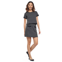 Textured Knit Short Sleeve Matching Set Top by Glamour Studio