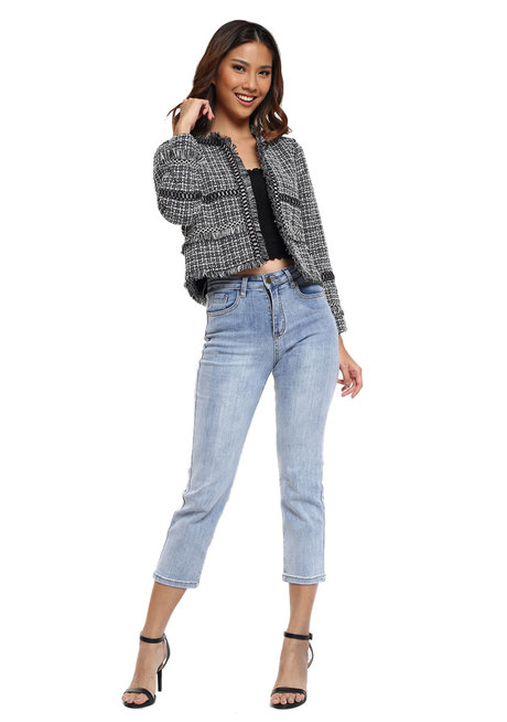 Tweed Knit Coat by The Fifth Clothing