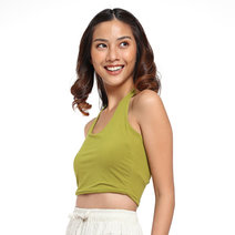 Cropped Halter Top by The Fifth Clothing