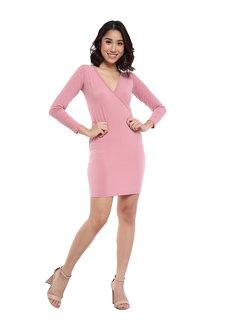 Alyssa V-Neck Bodycon Dress by Frassino Collezione