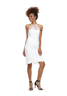 Lace Halter Dress by Tansshop