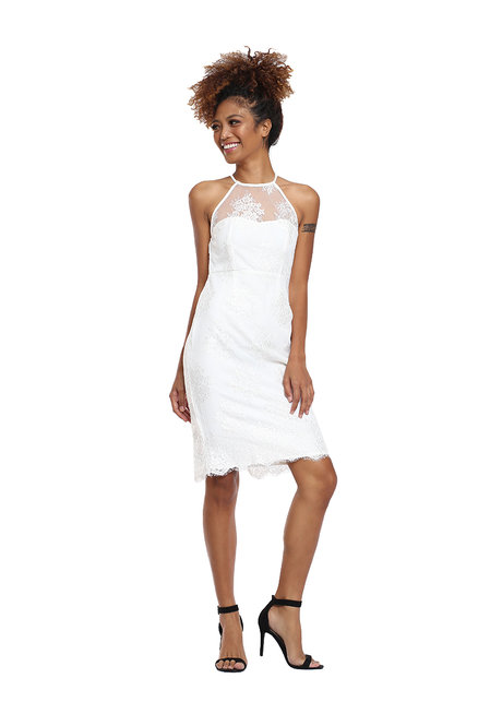 Lace Halter Dress by Tansshop