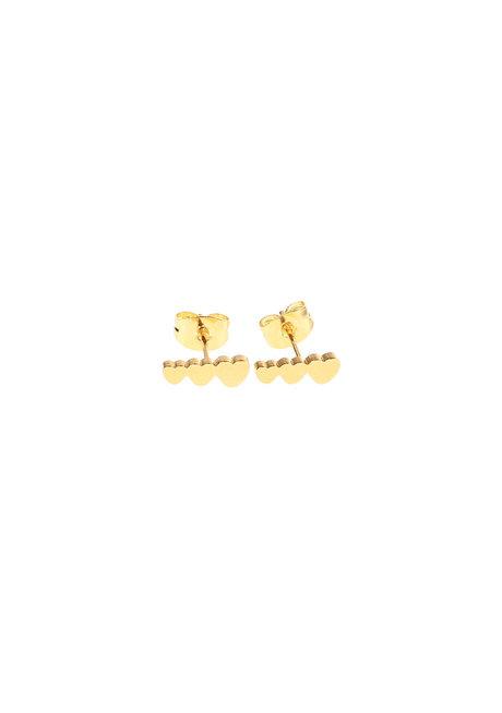 Triple Heart Earrings by Znapshop