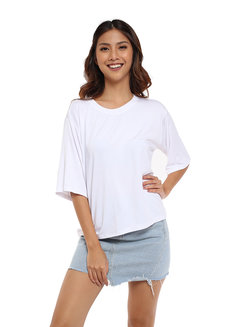 Crew Neck Loose Shirt by The Fifth Clothing