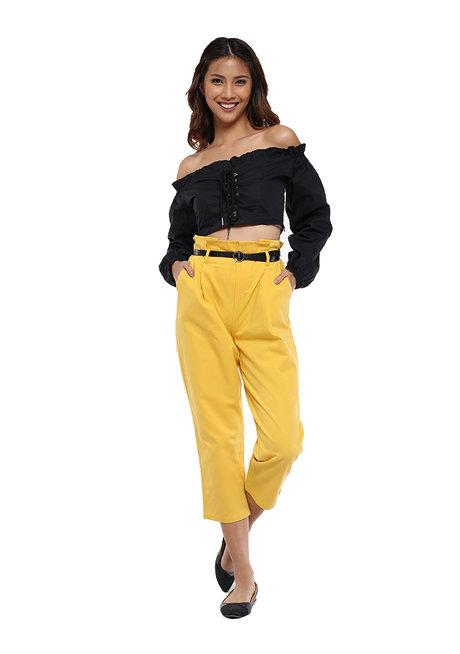 Farrah Pants with Belt  by Pink Lemon Wear