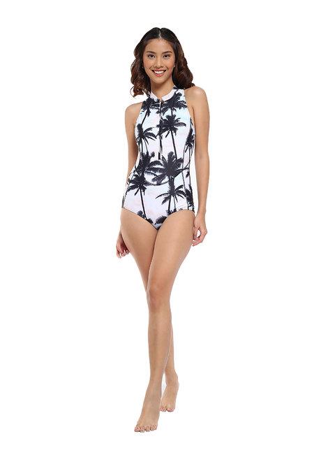 Palm Beach Zip Sleeveless Rashguard Suit by EIKA Swimwear