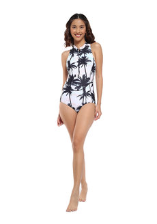 Palm Beach Zip Sleeveless Rashguard Suit by EIKA Swimwear