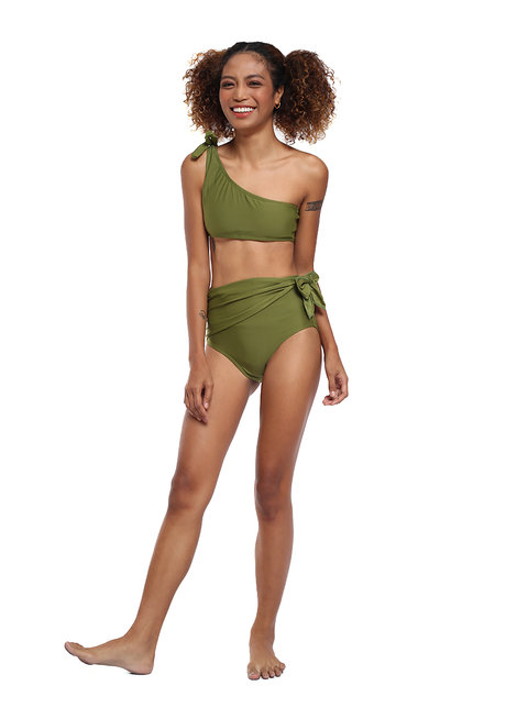 One Shoulder Wrap High Waist Set by EIKA Swimwear