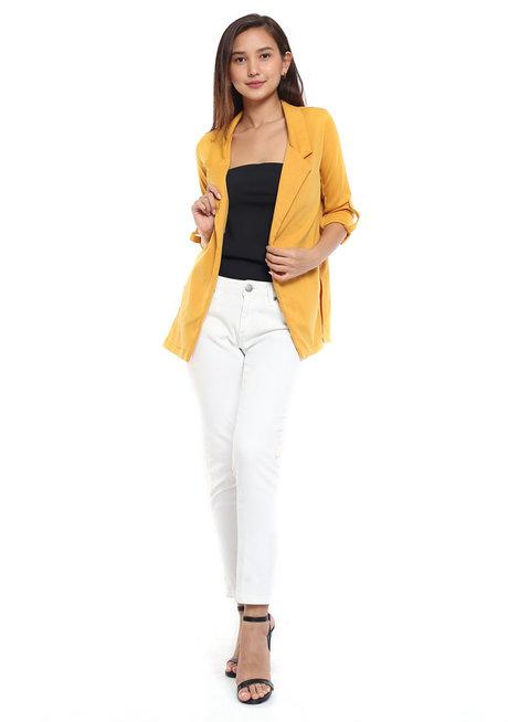 Mustard Blazer Jacket by Glamour Studio