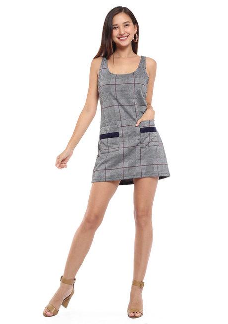 Textured Knit Sleeveless Shift Dress by Glamour Studio